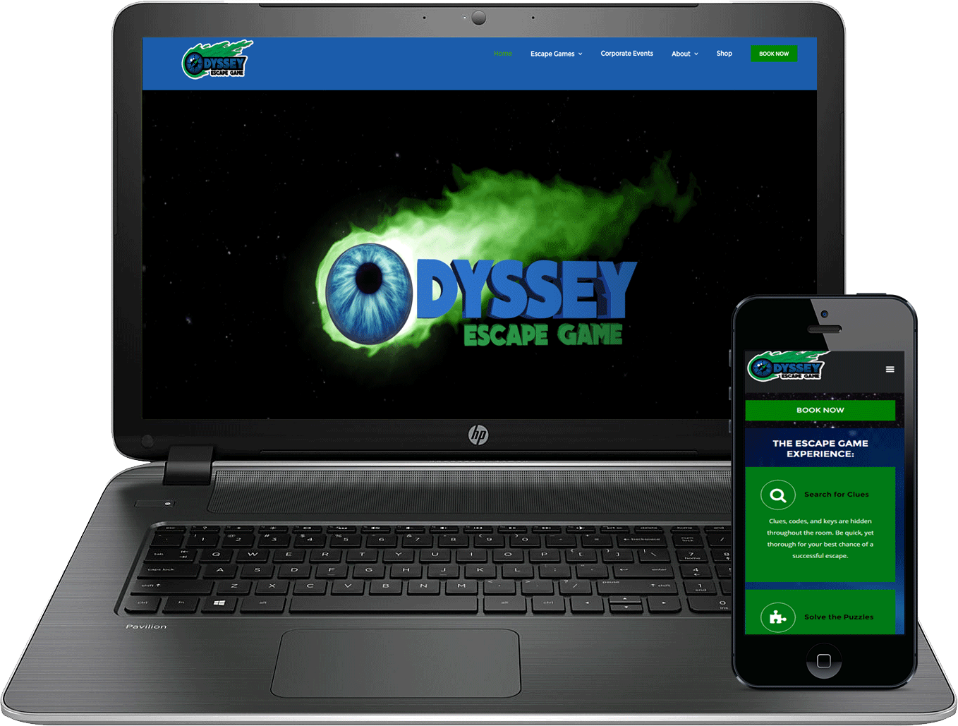 Odyssey Escape Game Design by Atticus Marketing